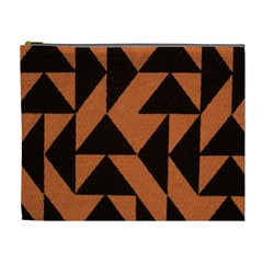 Brown Triangles Background Cosmetic Bag (xl)