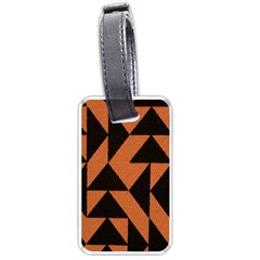 Brown Triangles Background Luggage Tags (one Side)  by Simbadda