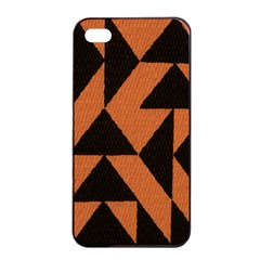 Brown Triangles Background Apple Iphone 4/4s Seamless Case (black) by Simbadda