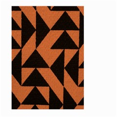Brown Triangles Background Large Garden Flag (two Sides) by Simbadda