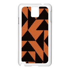 Brown Triangles Background Samsung Galaxy Note 3 N9005 Case (white)