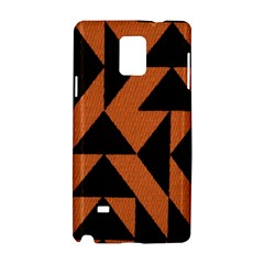 Brown Triangles Background Samsung Galaxy Note 4 Hardshell Case by Simbadda