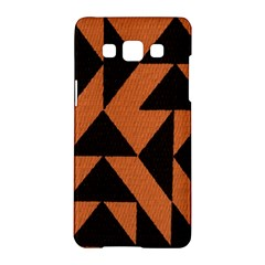 Brown Triangles Background Samsung Galaxy A5 Hardshell Case  by Simbadda
