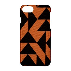 Brown Triangles Background Apple Iphone 7 Hardshell Case by Simbadda