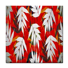Leaves Pattern Background Pattern Tile Coasters
