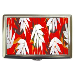 Leaves Pattern Background Pattern Cigarette Money Cases by Simbadda