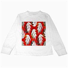 Leaves Pattern Background Pattern Kids Long Sleeve T Shirts