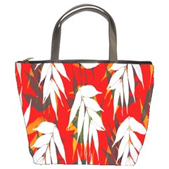 Leaves Pattern Background Pattern Bucket Bags by Simbadda