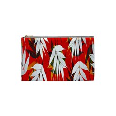 Leaves Pattern Background Pattern Cosmetic Bag (small)  by Simbadda
