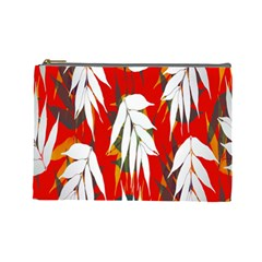 Leaves Pattern Background Pattern Cosmetic Bag (large)