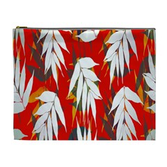 Leaves Pattern Background Pattern Cosmetic Bag (xl) by Simbadda