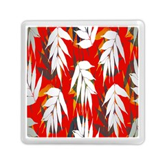 Leaves Pattern Background Pattern Memory Card Reader (square)