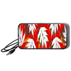 Leaves Pattern Background Pattern Portable Speaker (black) by Simbadda