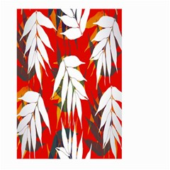 Leaves Pattern Background Pattern Large Garden Flag (two Sides) by Simbadda