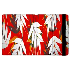 Leaves Pattern Background Pattern Apple Ipad 2 Flip Case by Simbadda