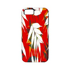 Leaves Pattern Background Pattern Apple Iphone 5 Classic Hardshell Case (pc+silicone) by Simbadda