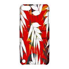 Leaves Pattern Background Pattern Apple Ipod Touch 5 Hardshell Case With Stand by Simbadda