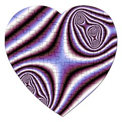 Fractal Background With Curves Created From Checkboard Jigsaw Puzzle (heart)