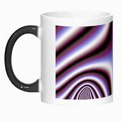 Fractal Background With Curves Created From Checkboard Morph Mugs by Simbadda