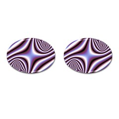 Fractal Background With Curves Created From Checkboard Cufflinks (oval) by Simbadda