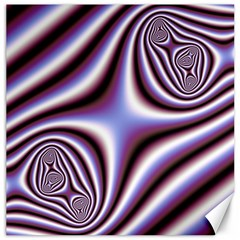 Fractal Background With Curves Created From Checkboard Canvas 12  X 12   by Simbadda