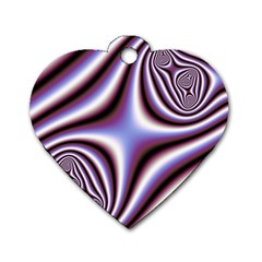 Fractal Background With Curves Created From Checkboard Dog Tag Heart (two Sides) by Simbadda