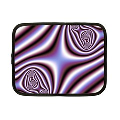 Fractal Background With Curves Created From Checkboard Netbook Case (small)