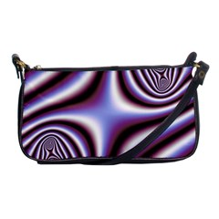 Fractal Background With Curves Created From Checkboard Shoulder Clutch Bags by Simbadda