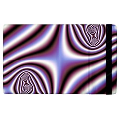 Fractal Background With Curves Created From Checkboard Apple Ipad 3/4 Flip Case by Simbadda