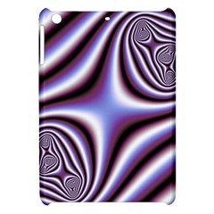 Fractal Background With Curves Created From Checkboard Apple Ipad Mini Hardshell Case by Simbadda