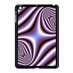 Fractal Background With Curves Created From Checkboard Apple Ipad Mini Case (black) by Simbadda