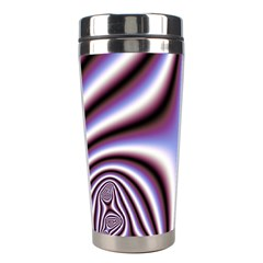 Fractal Background With Curves Created From Checkboard Stainless Steel Travel Tumblers by Simbadda