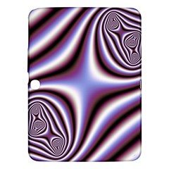 Fractal Background With Curves Created From Checkboard Samsung Galaxy Tab 3 (10 1 ) P5200 Hardshell Case  by Simbadda