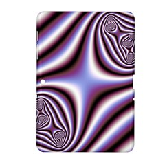 Fractal Background With Curves Created From Checkboard Samsung Galaxy Tab 2 (10 1 ) P5100 Hardshell Case  by Simbadda