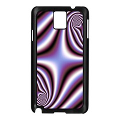 Fractal Background With Curves Created From Checkboard Samsung Galaxy Note 3 N9005 Case (black) by Simbadda