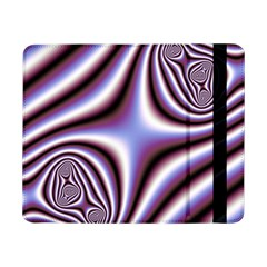 Fractal Background With Curves Created From Checkboard Samsung Galaxy Tab Pro 8 4  Flip Case by Simbadda
