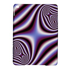 Fractal Background With Curves Created From Checkboard Ipad Air 2 Hardshell Cases by Simbadda