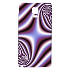 Fractal Background With Curves Created From Checkboard Galaxy Note 4 Back Case by Simbadda