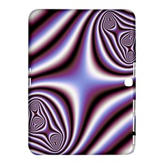 Fractal Background With Curves Created From Checkboard Samsung Galaxy Tab 4 (10 1 ) Hardshell Case  by Simbadda