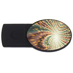 Vortex Glow Abstract Background Usb Flash Drive Oval (2 Gb) by Simbadda