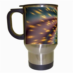 Vortex Glow Abstract Background Travel Mugs (white) by Simbadda