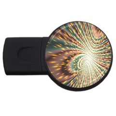 Vortex Glow Abstract Background Usb Flash Drive Round (4 Gb) by Simbadda