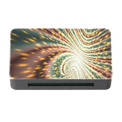 Vortex Glow Abstract Background Memory Card Reader With Cf by Simbadda