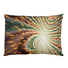 Vortex Glow Abstract Background Pillow Case (two Sides) by Simbadda