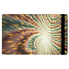 Vortex Glow Abstract Background Apple Ipad 2 Flip Case by Simbadda