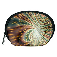 Vortex Glow Abstract Background Accessory Pouches (medium)  by Simbadda