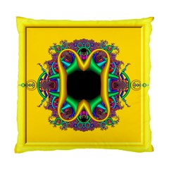Fractal Rings In 3d Glass Frame Standard Cushion Case (one Side) by Simbadda