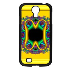 Fractal Rings In 3d Glass Frame Samsung Galaxy S4 I9500/ I9505 Case (black)
