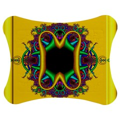 Fractal Rings In 3d Glass Frame Jigsaw Puzzle Photo Stand (bow) by Simbadda