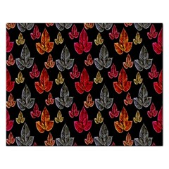Leaves Pattern Background Rectangular Jigsaw Puzzl by Simbadda
